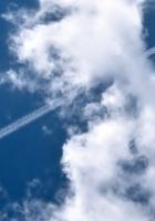 plane, trace, sky