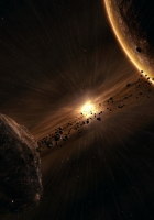 planet, asteroids, splinters