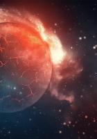 planet, explosion, cracks