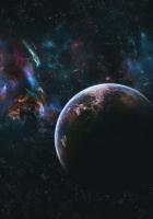 planet, galaxy, blur