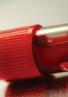 plastic, red, tube