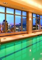 pool, water, city