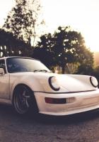 porsche, auto, white