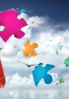 puzzles, flight, sky
