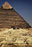 pyramid, egypt, sand
