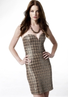 rachel nichols, brunette, dress