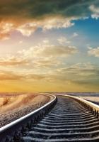 rails, cross ties, decline
