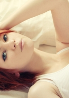 red-haired, eyes, girl