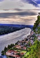 river, coast, city