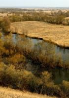river, fields, autumn