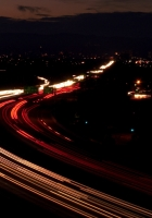 road, night, traffic