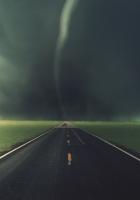road, tornado, asphalt