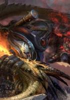 robot, dragon, battle