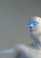 robot, mannequin, neon