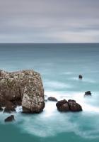 rock, horizon, sea