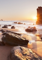 rocks, sea, sky