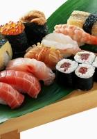 rolls, sushi, fish