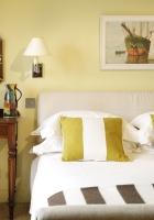 room, bed, mirror