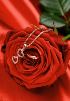 rose, chain, heart