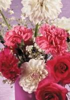 roses, dahlias, carnations