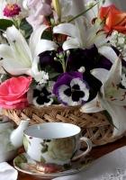 roses, lilies, pansies