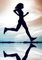 run, silhouette, figure