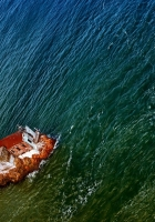 sailing vessel, from above, corner