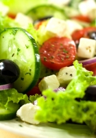 salad, vegetables, olives
