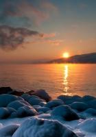salt, stones, sea