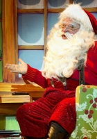 santa claus, astonishment, armchair
