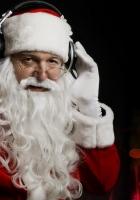 santa claus, christmas, headphones