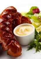 sausage, sauce, fresh herbs