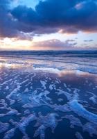 sea, foam, coast