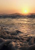 sea, foam, splashes