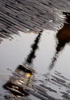 sidewalk, pool, after a rain