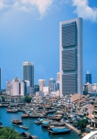 singapore, river, boats