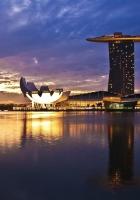 singapore, sunrise, construction