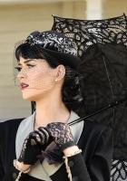 singer, umbrella, black