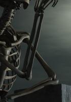 skeleton, stone, 3d