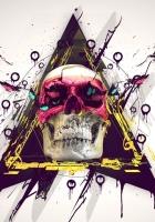 skull, paint, butterfly