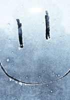 smile, drawing on glass, happiness