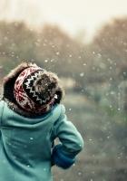 snow, man, winter