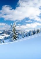 snow, slope, winter