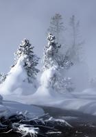 snow, water, fog