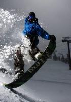 snowboard, evening, snow