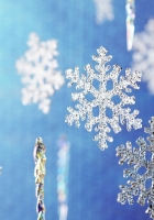 snowflakes, glitter, blue