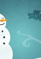 snowman, tree, sign