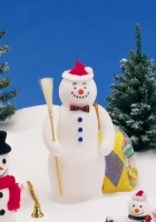 snowmen, christmas trees, snow