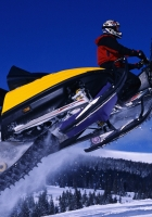snowmobiles, flight, extreme