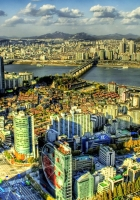 south korea, skyscrapers, buildings
